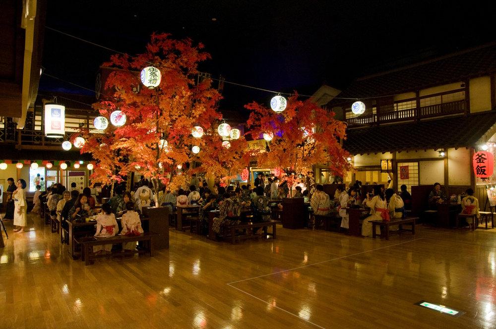 Oedo Onsen Monogatari - A public bathhouse/theme park. Basically the most Japan you can get.2000 yen.