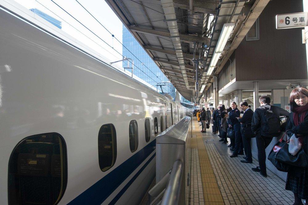 Bullet Train in Tokyo Japan