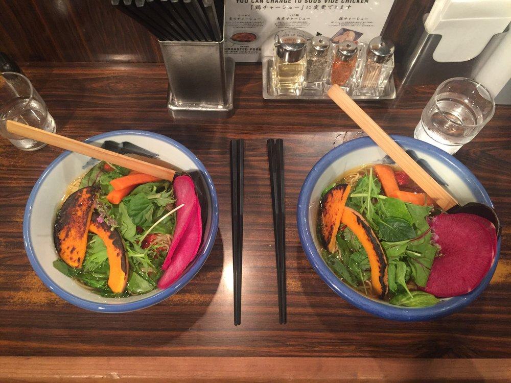 Rainbow Vegan Ramen in Tokyo Japan
