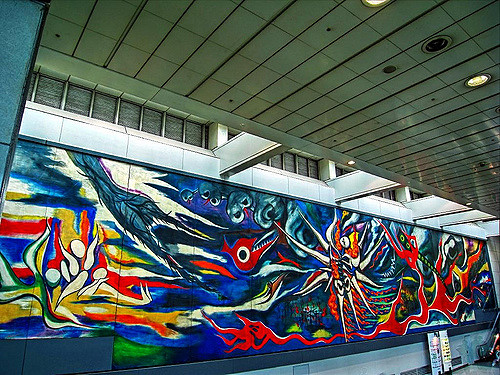 One of the best things to do in Tokyo is visit Mural of Tomorrow in Shibuya Station