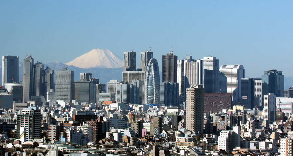Mount Fuji as seen from Bunkyo Civic Center
