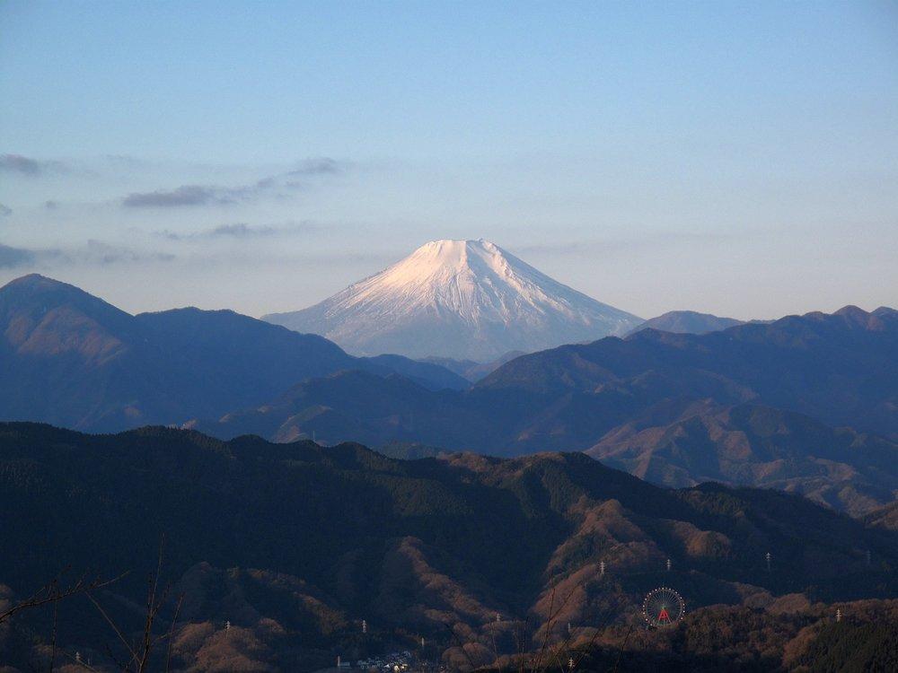 Mount Fuji as seen from the Summit of Takaosan