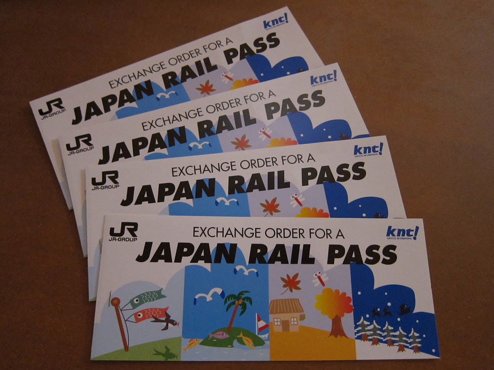Exchange voucher for Japan Rail Pass