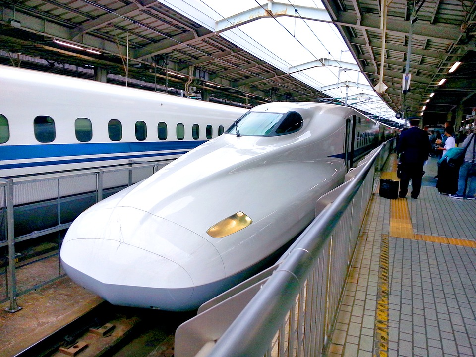 The bullet trains in Japan