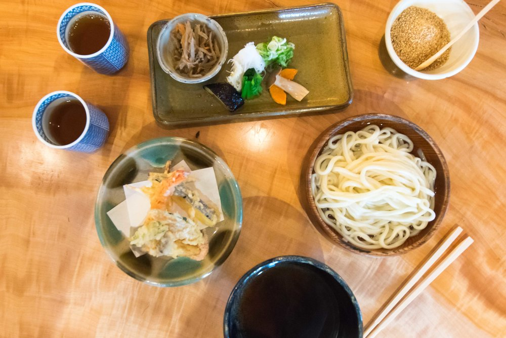 Udon Noodle Set at Omen Kodai-Ji