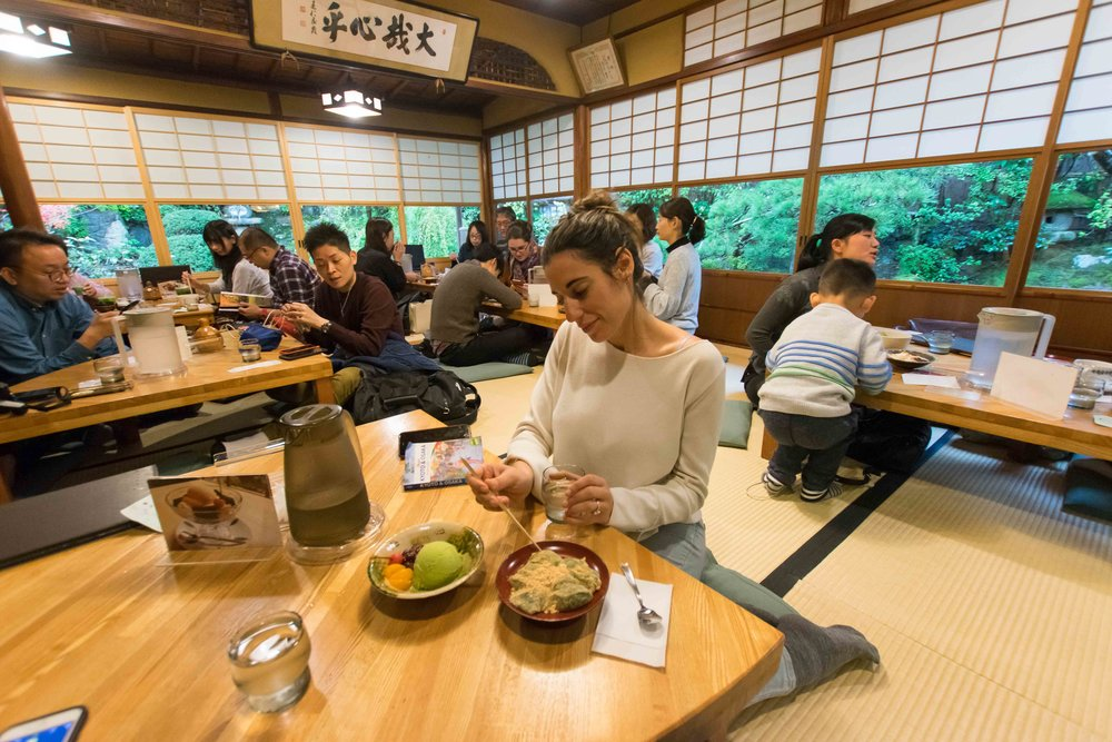Traditional Japanese Desserts in Kyoto. Don't miss this place.
