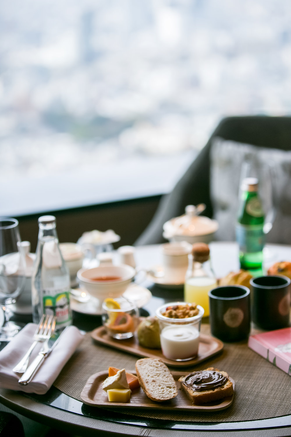 Breakfast spread at The Ritz-Carlton Tokyo