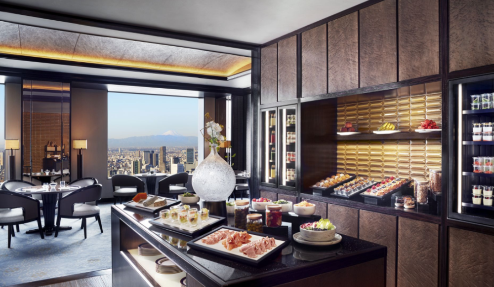 Club level lounge breakfast spread at The Ritz-Carlton Tokyo