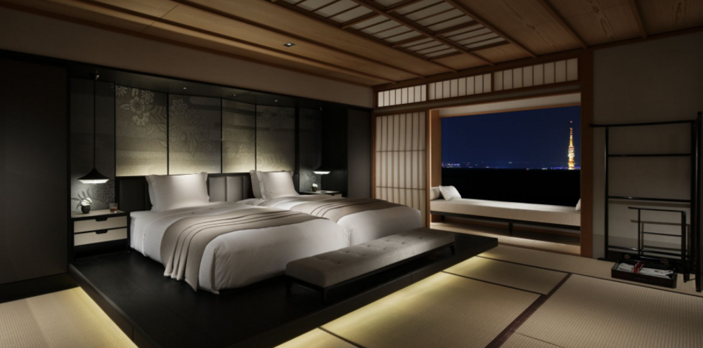 Traditional Japanese room at The Ritz-Carlton Tokyo