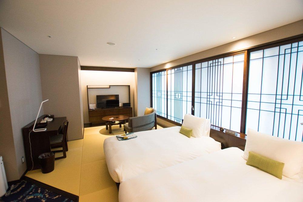 The spacious rooms at Hotel Ryumeikan in Tokyo