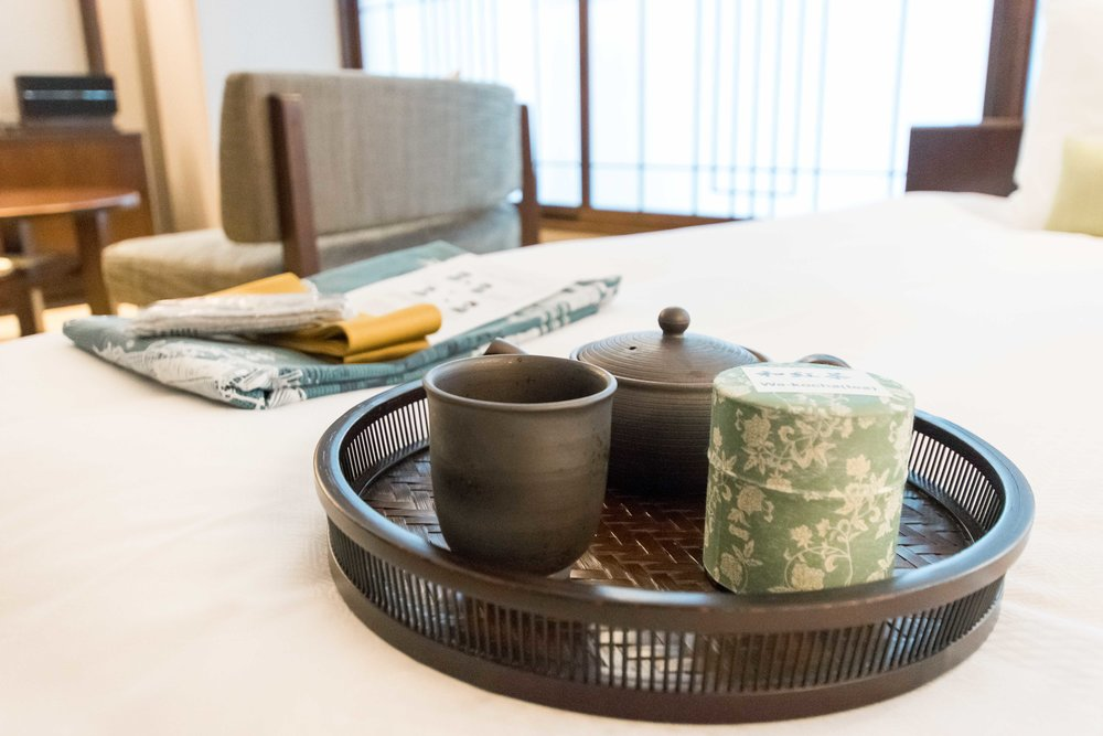Tea service in your room at Hotel Ryumeikan in Tokyo
