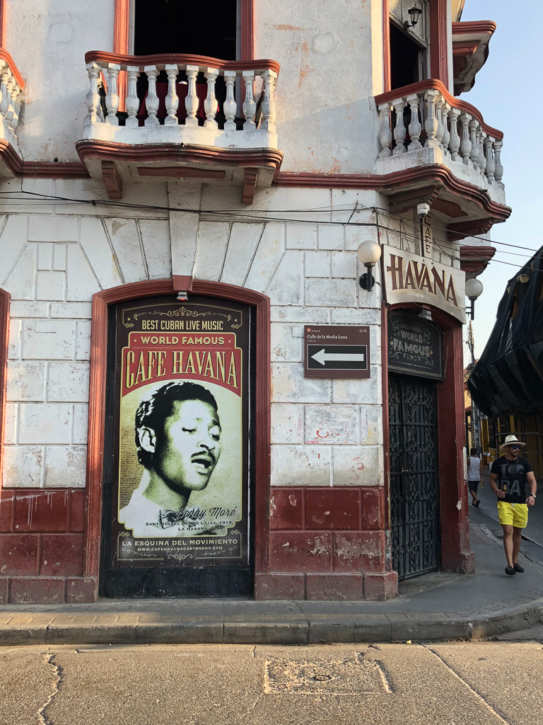 Cafe Havana in Getsemani Colombia