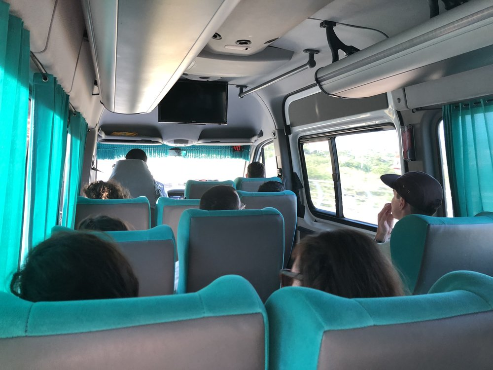 A minibus from Cartagena to Santa Marta is an extremely budget option that is still comfortable