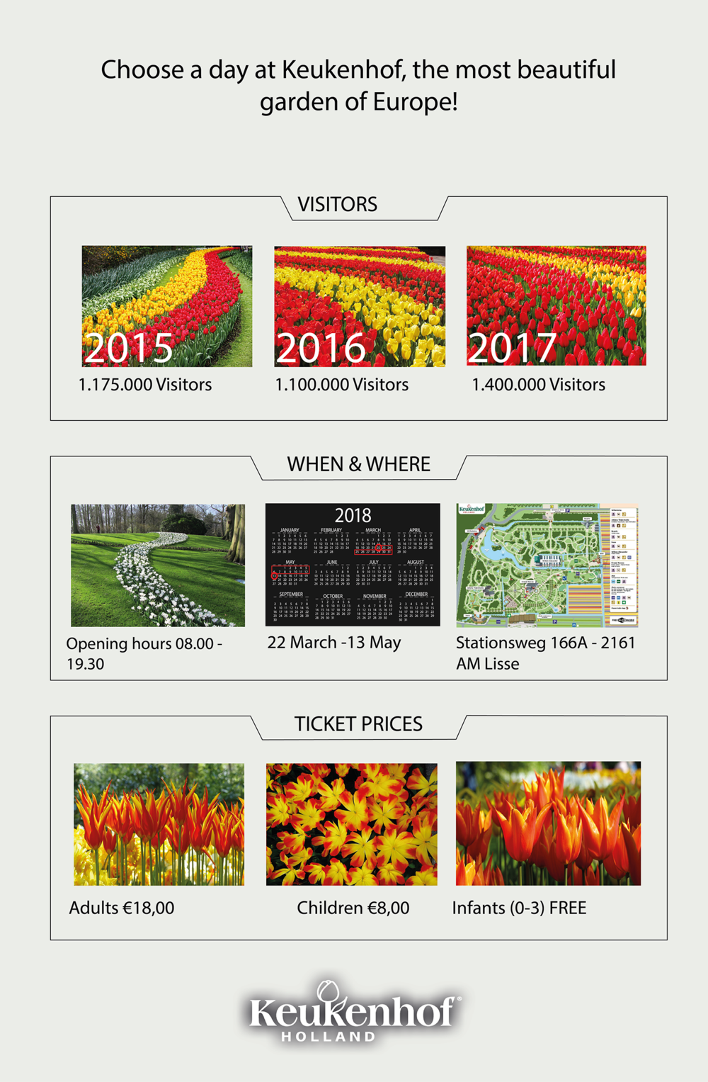 Click to view larger.  Click here to book a tour of Keukenhof Gardens.