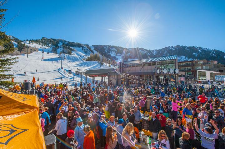 Clicquot in the Snow - Aspen Colorado