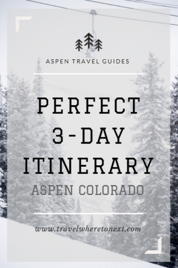 Heading to Aspen soon? Read on for a perfect 3-day itinerary so you see the best things while in Aspen.