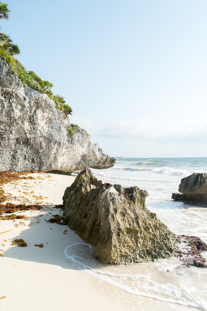 The beach at Tulum Ruins