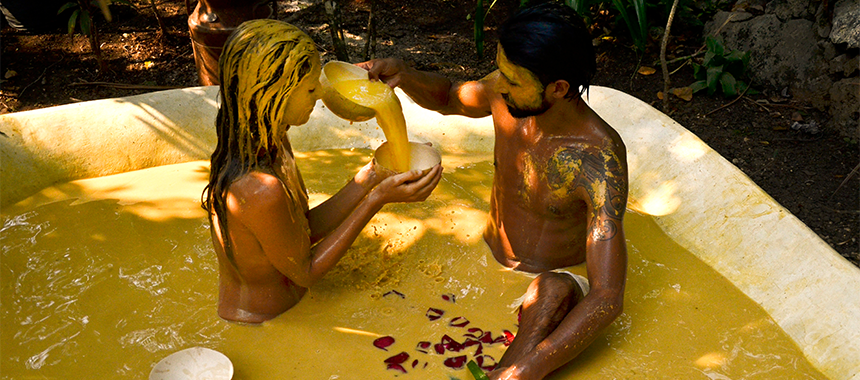Mayan Clay Bathhouse  |  Tulum, Mexico (that's not me by the way!)