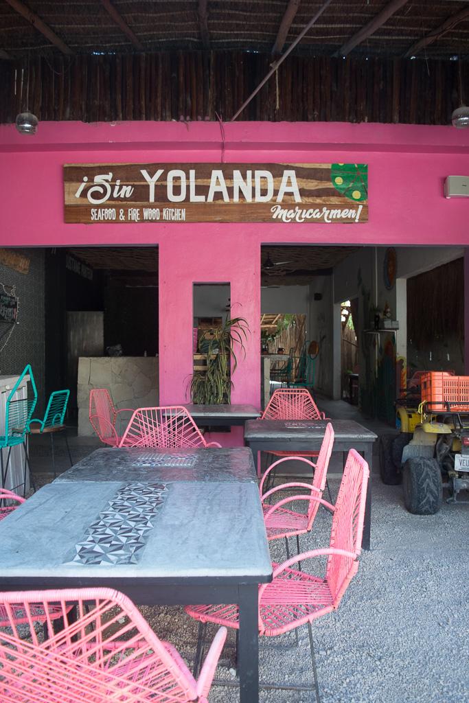 Food in Tulum Beach
