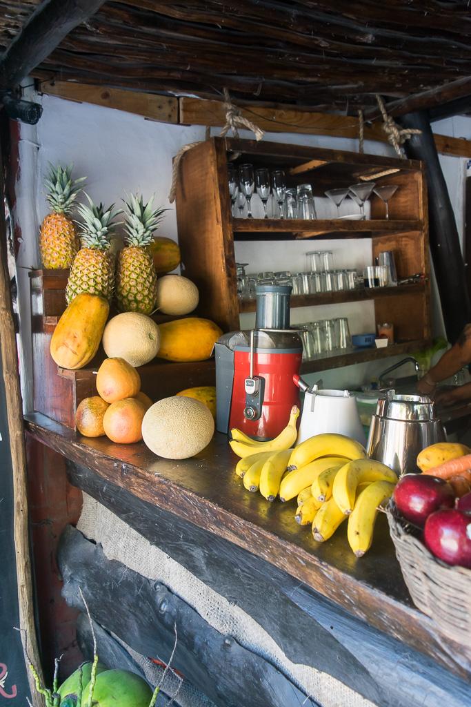 Fruit stands Tulum