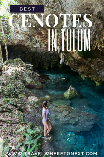 Check out Tulum Mexico for an amazing beach vacation! One of the things you can't miss out on while in Tulum is the amazing cenotes that dot the peninsula. Here are the best cenotes you should visit while in Tulum.