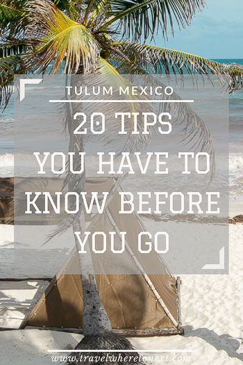 Check out Tulum Mexico for an amazing beach vacation! There are a couple of tips you have to know before you go there. Make sure you read this article before taking off for Mexico.