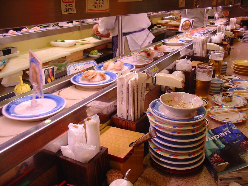 Conveyor belt sushi