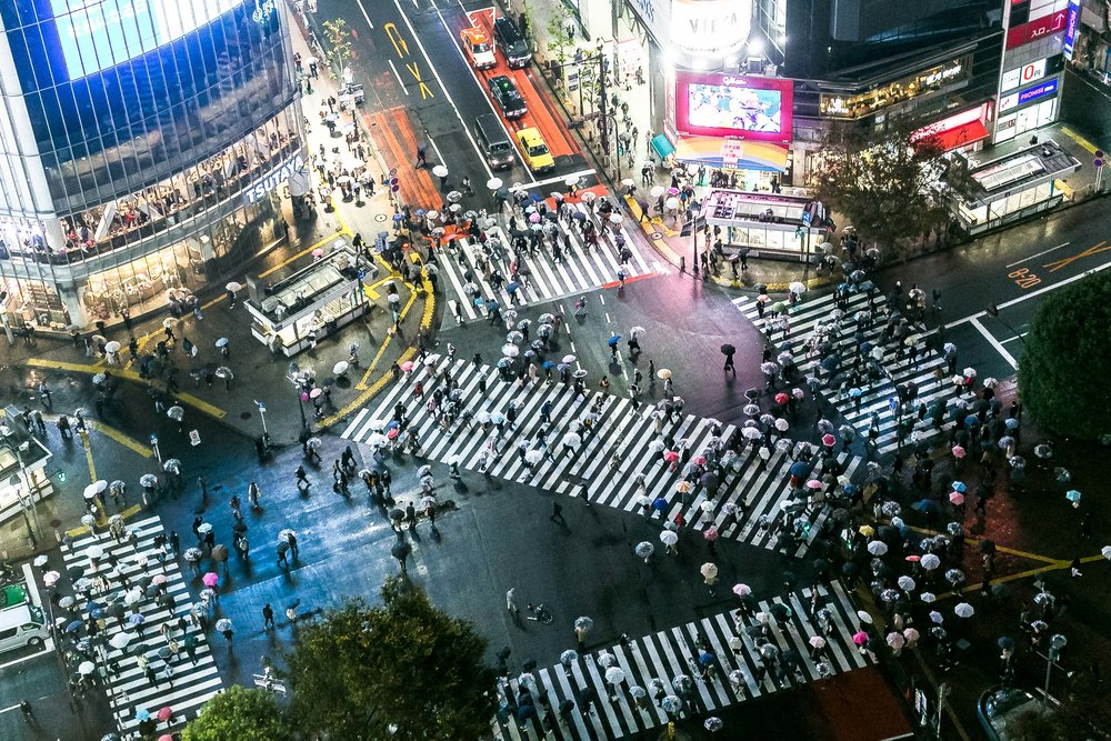 Shibuya Crossing from above | Tokyo, Japan
