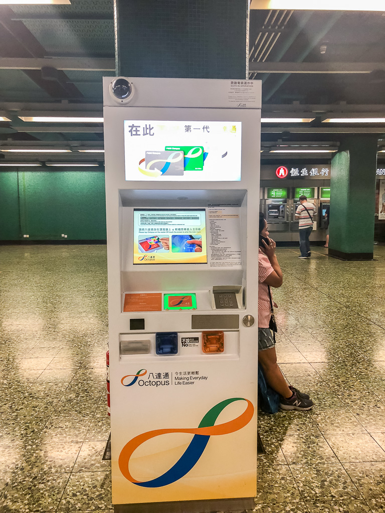 Octopus card in Hong Kong
