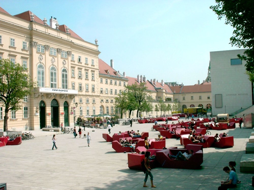 One of the best things to do in Vienna is visit the Museumquartier