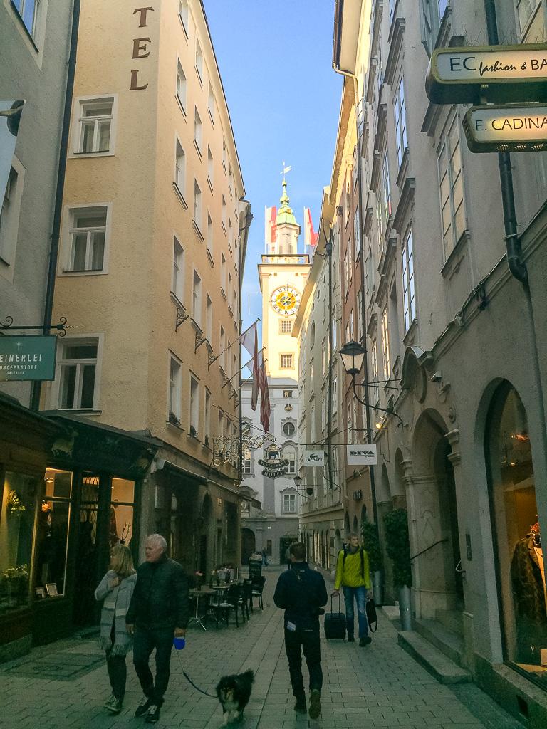 Old town in Salzburg Austria