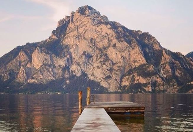 Traunsee Mountain Lake - Best viewed in the summer