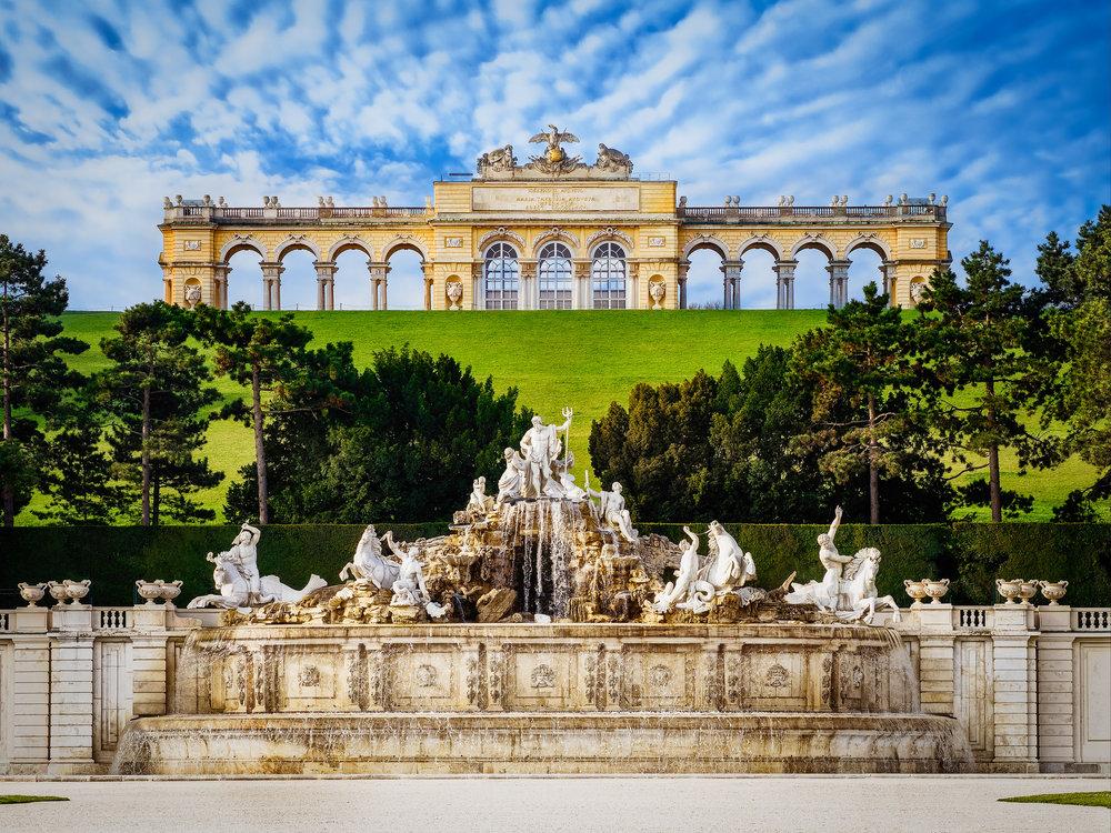 Schönbrunn Gardens in Vienna -