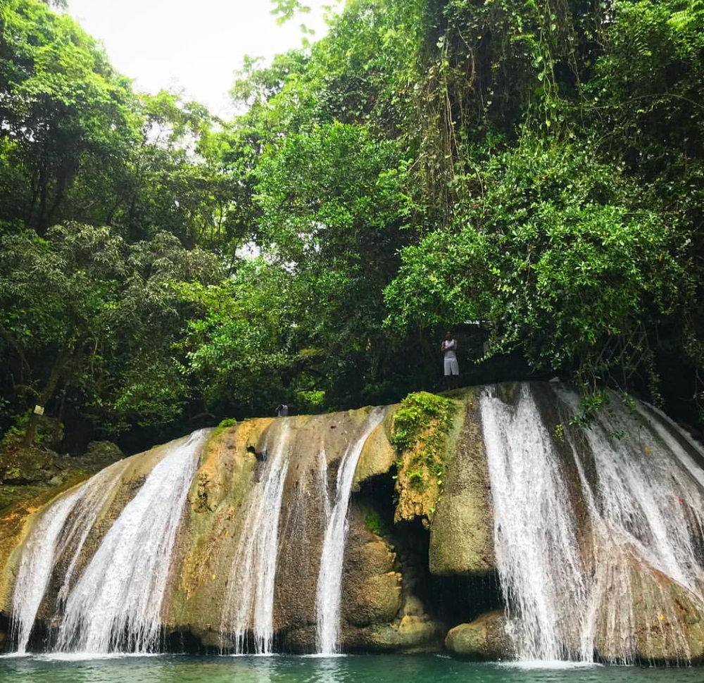 One of the best waterfalls in Jamaica is Reach Falls