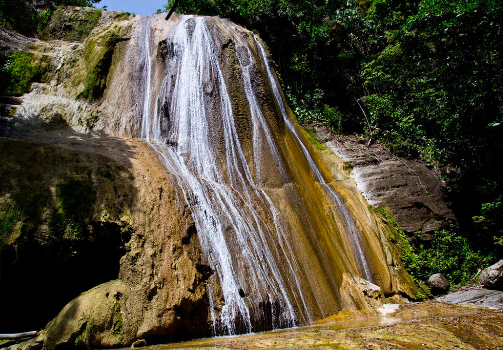 One of the best waterfalls in Jamaica is Tacky Falls