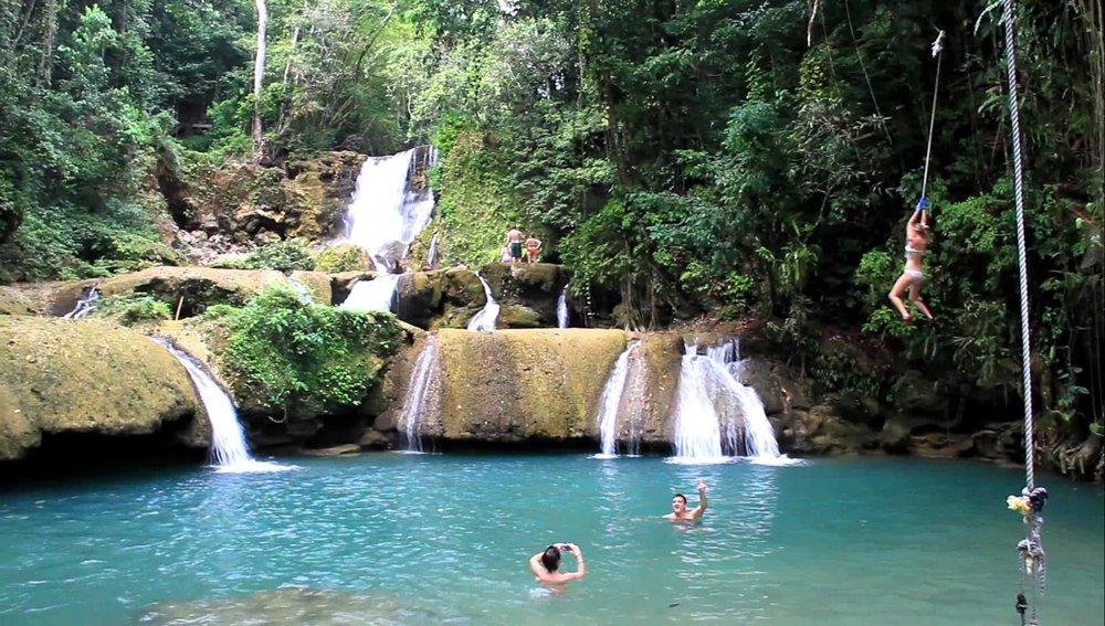 One of the best waterfalls in Jamaica is YS Falls
