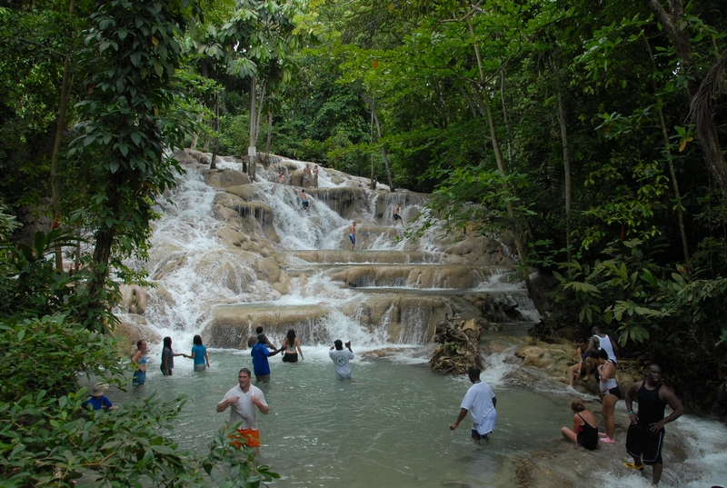 One of the best things to do in Ocho Rios is visit Dunn's River falls - just know it will be crowded