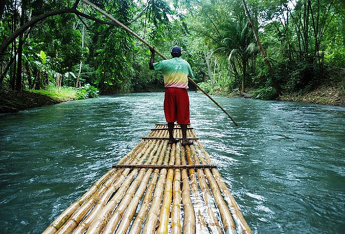 One of the best things to do outside of Ocho Rios is river rafting