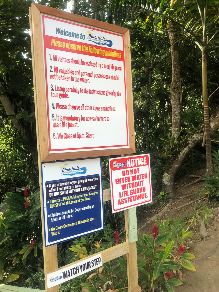 Rules at the Blue Hole