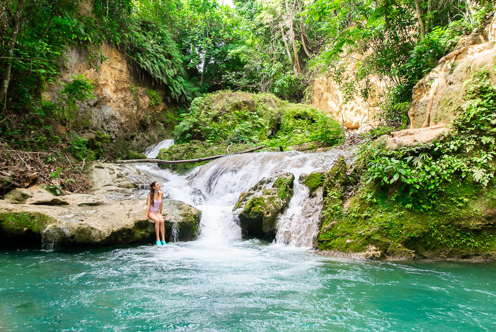 Part of the Blue Hole in Ocho Rios