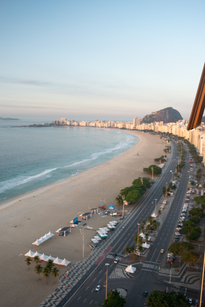 Copacabana Beach is one of the most beautiful in the world