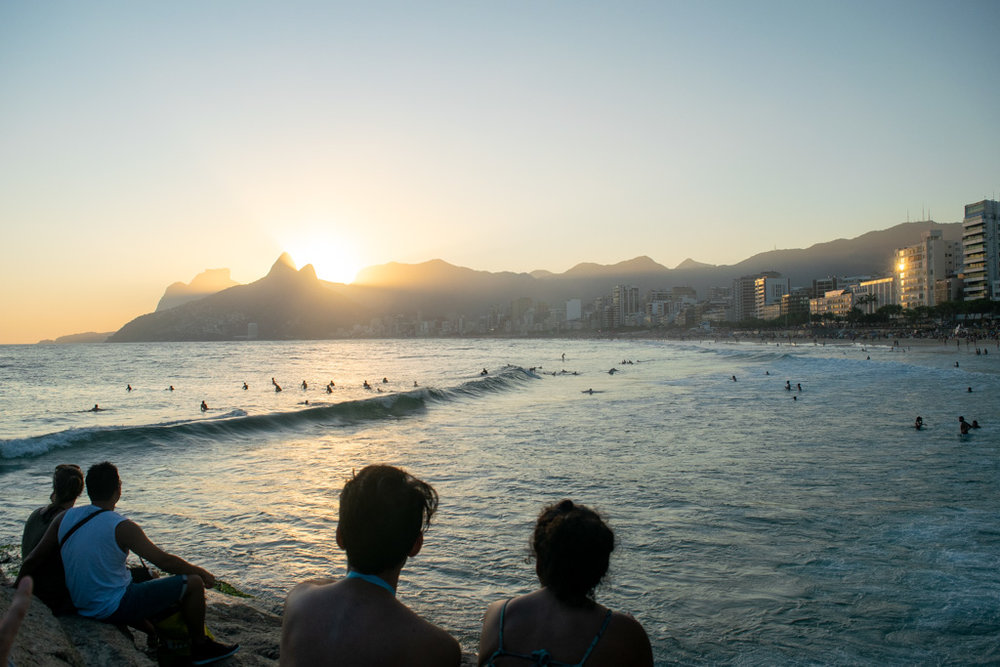Sunset at Praia do Arpoador