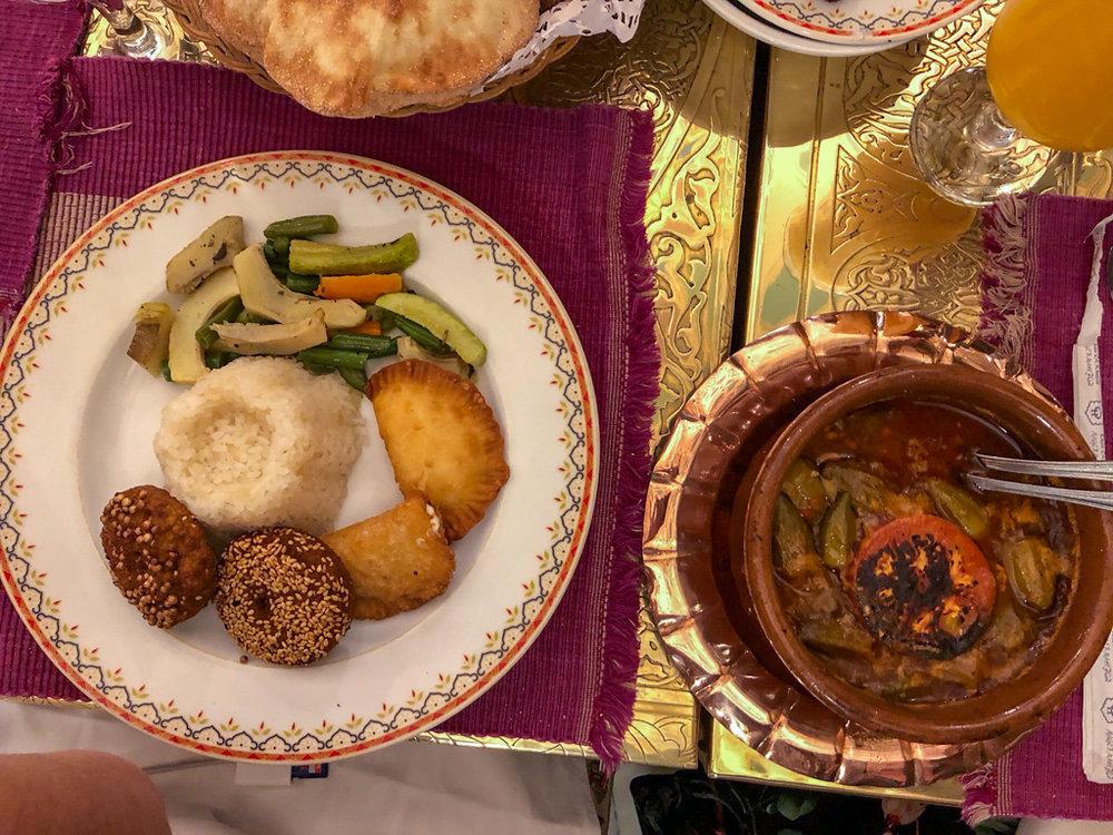 The Food at Qahwet Fishawi