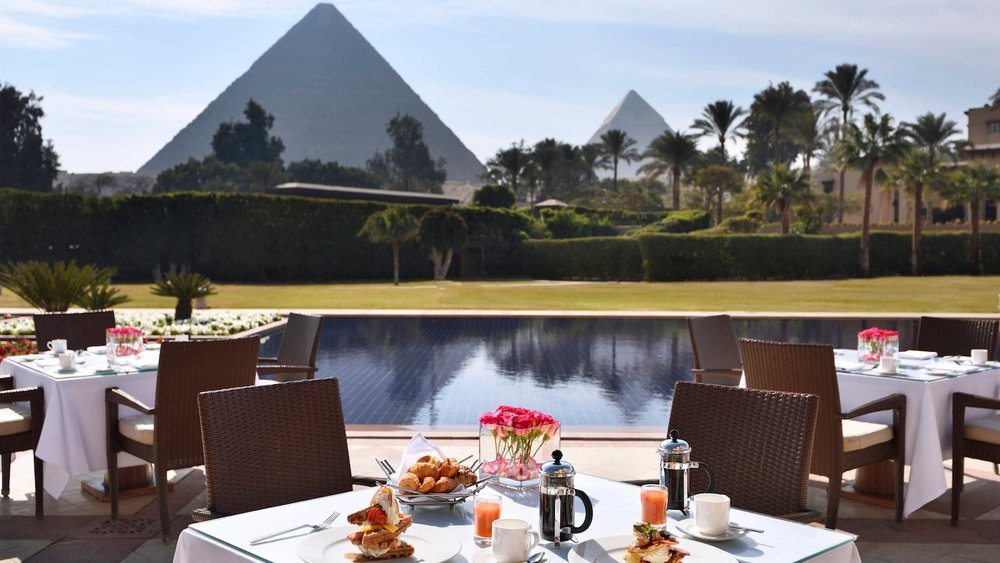 Pyramid Views while dining