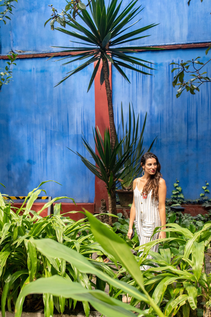 Iconic Blue Walls of the Frida Kahlo Museum