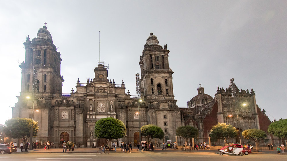 The gorgeous catherdral in Mexico city