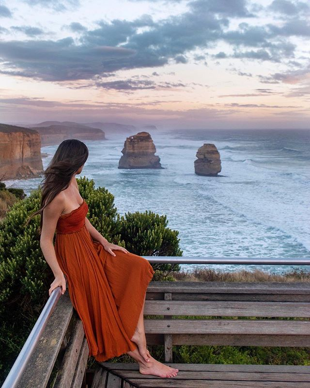 The 12 apostles are even better in person. I had seen so many pictures online, but seriously none of them (even this one) does them justice. You just have to see it in person. — I'll be writing a SUPER in-depth guide to driving the great ocean road once I'm home (in two days 😢) but know this... you will have veryyyy little service out there. Texting worked fine (no pics tho) but I got zeroooo internet to google things or post on Instagram. So either bring a MiFi (we did and didn't work out there but it was probably user error) or say goodbye to the internet for a couple days. — You can also buy an Australian SIM card as another alternative. — #dametraveler #sheisnotlost #WeAreTravelGirls #femmetravel #SidewalkerDaily #Girlaroundworld #passionpassport #darlingescapes #gltLOVE #mylpmag #ladiesgoneglobal #lovetheworld #BBCtravel #fodorsonthego #timeoutsociety #iamatraveler #girlsmeetglobe #traveloffpath #australia #greatoceanroad