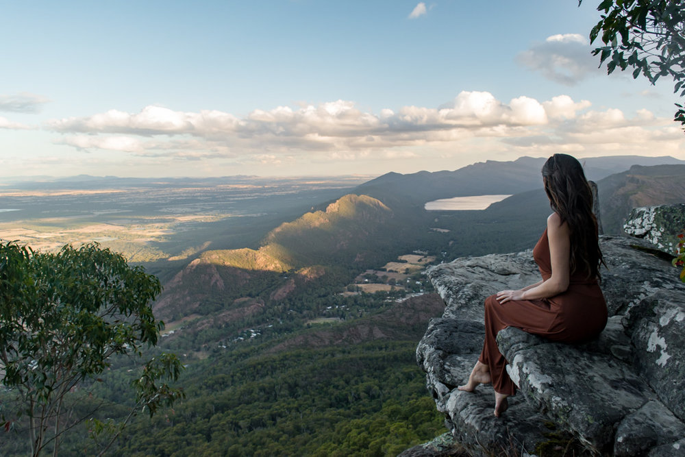 Boroka Lookout outside of Halls Gap in Grampians National Park