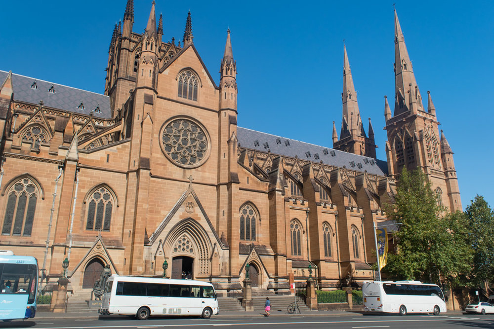 A gorgeous place to visit is St Marys Cathedral in Sydney, and it is also completely free.