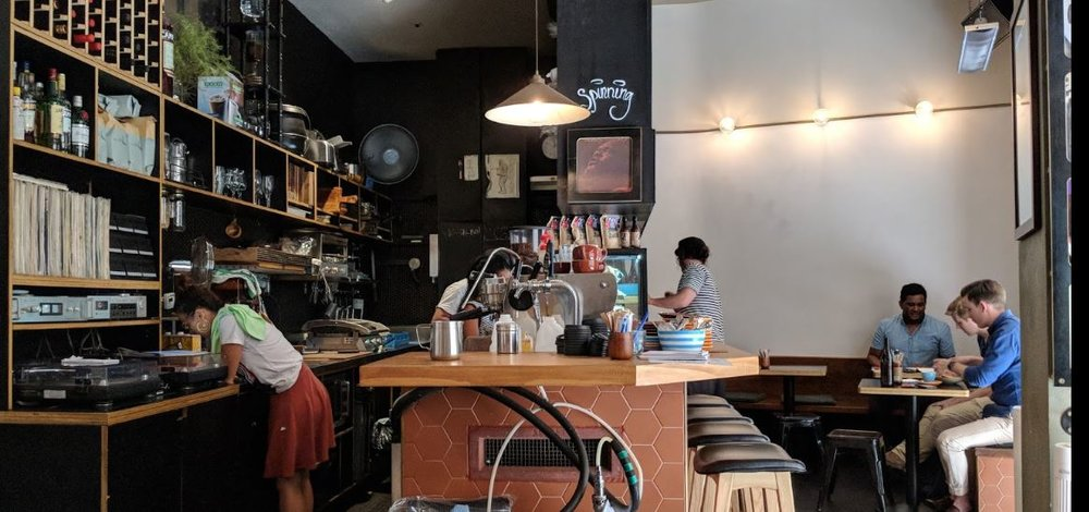 One of the best coffee shops in the city is easily Marlowe's way.